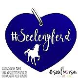 Pferde Glücksmarke #Seelenpferd Blau – Gücksbringer - Soulhorse Anhänger Halfter, Trense, Zaumzeug, Sattel, Vorderzeug