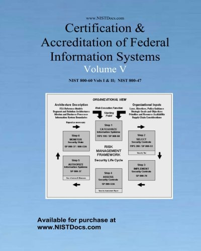 Certification & Accreditation of Federal Information Systems Volume V: NIST 800-60 Volumes I & II, NIST 800-47: 5