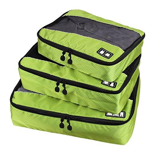 BAIGIO Kleidertasche Kofferorganizer Packtasche 4 Stück Grün für Kleidung Unterwäsche Socken -