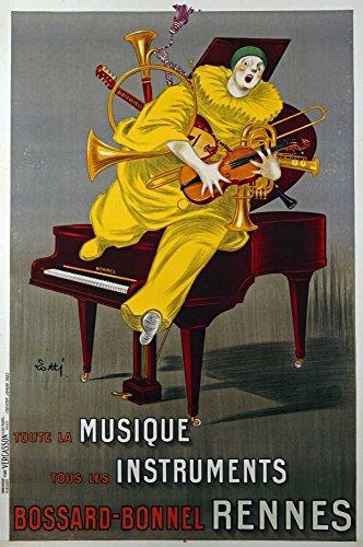 Fine Art Print–Toute La Musique, TOUS LES Instrumente von Bentley Global Arts Gruppe, canvas, multi, 10 x 15