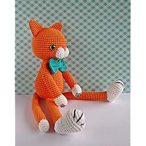 Häkeltier Katze Kater Max orange Bio-Baumwolle