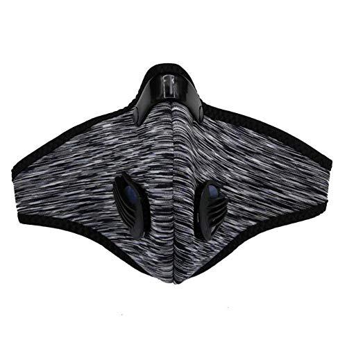 Sddlng Fahrradmaske, Aktivkohle-5-Lagen-Filterfutter für den Außenbereich, Winddichte Sportmaske gegen Milben, PM2.5