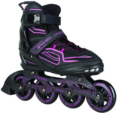 Spokey Kinder und Erwachsene Inline Skates mit verschleißfesten Rädern und widerstandfähigen Bremsklötzen, Taron - Pink, 40