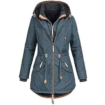 f66aff97ed74c2 Ausnahme-Zustand Azuonda Damen Mantel Winterjacke Parka Winter Jacke warm  Wintermantel Doublezipper gefüttert XS-XXL AZ34