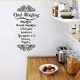Mrhxly Der Hobbit Tolkien Inspiriert Mahlzeit Zitate Vinyl Wandtattoos Küche Wandtattoo Kunst Wandbild Dekoration 45 * 80 Cm