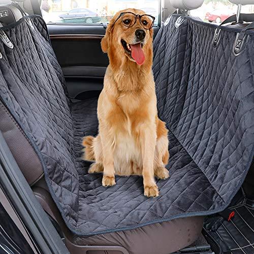 FENG Hund Auto Rückbank Wasserdicht Hunde Autoschondecke Hund Rücksitz Kofferraum wasserdicht Kratzfest und rutschfest Kofferraumschutzdecke,137 * 147CM