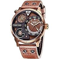 Alienwork Quarz Armbanduhr sport Uhr Herren Uhren Multi Zeitzonen Design Polyurethan braun YH.E3065L-04