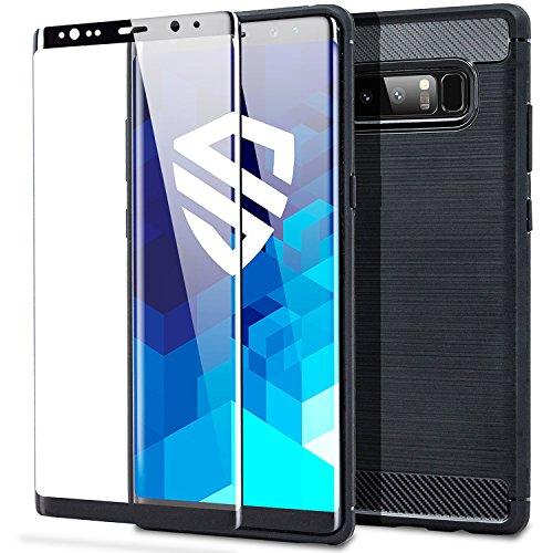 3b03e14ddc0 Funda Protectora + Protector De Pantalla Samsung Galaxy Note 8 - Cristal  Templado - Protección Militar