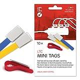 Label-the-cable etichette per cavi con chiusura a strappo, targhetta identificativa cavi singoli, fasci di cavi / LTC MINI TAGS, 10 pezzi, 90mm, Colori, LTC 2530