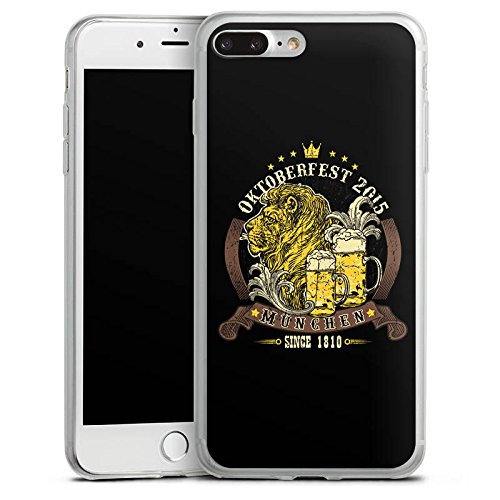 Apple iPhone 8 Slim Case Silikon Hülle Schutzhülle Bier muenchen loewe Silikon Slim Case transparent
