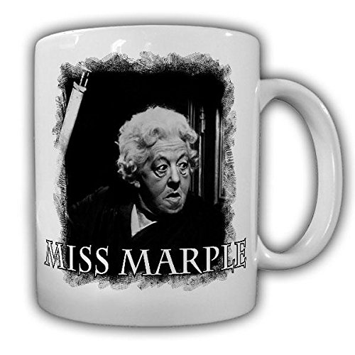 Miss Marple Krimi Roman alte Dame Kult Serie 50er 60er Film England Margaret Rutherford Tasse Becher #19862 (Alte Film-t-shirts)