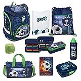 Fußball Schulrucksack Set 9tlg. Twixter Up Sporttasche Dose Flasche Schulranzen Scooli FCPR7551