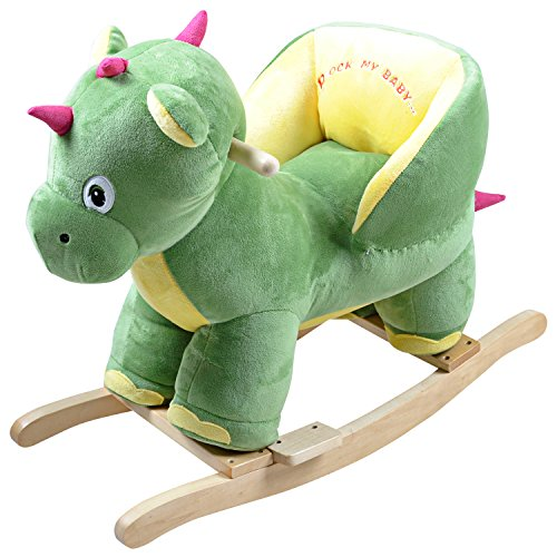 Knorrtoys 40392–Animal à bascule, cheval à bascule Dino Bamba avec son
