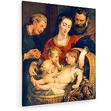 La familia santa / Rubens / c. 1615 - 60x75 cm - Impresiones sobre lienzo - weewado - Muro de arte - Antiguos Maestros