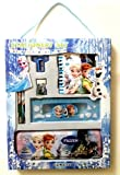 K&M World Frozen Supreme Stationary Pack Set With Handle/1 Gift Pack-6Pieces Inside/School Set/Birthday Party Return Gift Geometry Sets