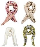 #8: SWHF Premium Cotton and Silk Scarfs set of 4: Multi Coloured Scarves