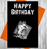 Geburtstagskarte BMX Bike–Einzigartiges Kreidetafel Effekt Grußkarte