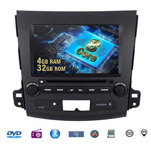 Autostereo GPS lecteur DVD de voiture 8 Core Android 8.0 4Go + 32GB Navigation GPS pour Mitsubishi Outlander 2007-2011