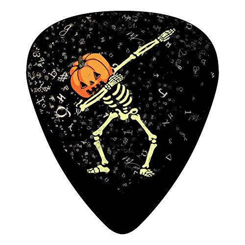 Lightning Dabbing Halloween Fender Celluloid Guitar Picks Customized 12 Pack Thin, Medium, Heavy Gauges For Boyfriend