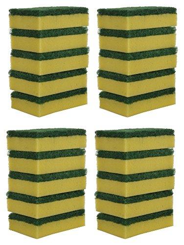 Brite Guard Polyester Multipurpose Scrub Sponge (Green, 20-Piece)