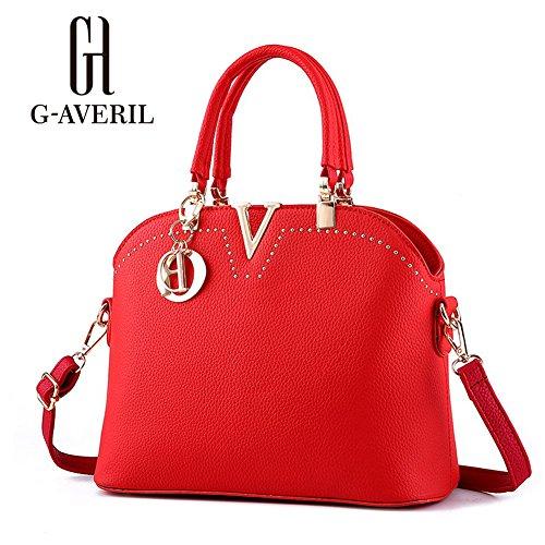 (G-AVERIL) Borse Donna ,GAVERIL Borse a Mano Borse Tracolla Borse a Spalla Tracolla Grande rosso