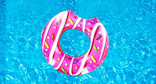Donut Hinchable Flotador - ¡Gran Accesorio Divertido Para La Piscina, La Playa...