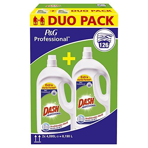 Professional Dash Vollwaschmittel Regulär Flüssig Doppelpack 2x4,095l, 126Waschladungen