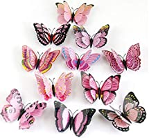 Butterfly Wall Decals Household Creative 3D Double Layer Stereo Wall Sticker Bedroom Window Arbitrary Stickers