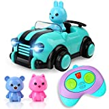 BeebeeRun Girls Toys for 2 Year Old + ,Toddler Toys,Birthday Gifts,Remote Control Car Toys for Kids, 3 Dolls,Music and Lights