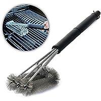 Aodoor 3 en 1 Cepillos para barbacoas, Cepillo de Parrilla Limpieza de Acero Inoxidable, 360°Limpieza de Parilla para Weber, Charbroil, Gas, Electricidad, Porcelana, Infrarrojos Parillas