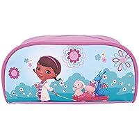 Astuccio bambina Dottoressa Peluche - Pratico portatutto con cerniera per la scuola - Rosa e azzurro - Perletti 9x20x8 cm