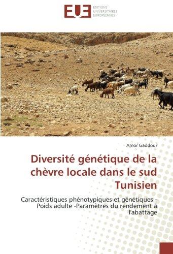 Diversite genetique de la chèvre locale dans le sud Tunisien: Caracteristiques phenotypiques et genetiques -Poids adulte -parametrès du rendement A l'abattage