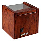 Time Tutelary Single Watch Winder (High Gloss Burlwood) No' 079 Bild 6