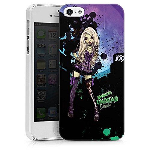 Apple iPhone X Silikon Hülle Case Schutzhülle Art Mädchen Comic Hard Case weiß