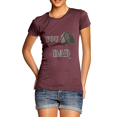 TWISTED ENVY Funny T-Shirts for Women Sarcasm You Rock Dad