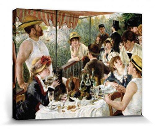 1art1 Pierre Auguste Renoir - Das Frühstück Der Ruderer, 1880-1881 Poster Leinwandbild Auf Keilrahmen 80 x 60 cm