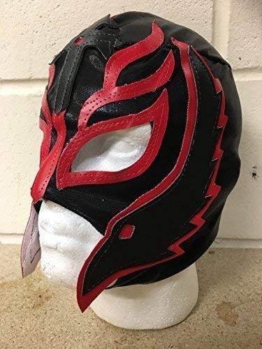 Wrestling Rey Mysterio - Schwarz - Reißverschluss Maske -