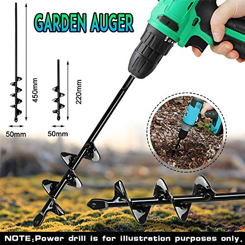 ExcLent 5X22/5X45Cm Garden Auger Small Earth Planter