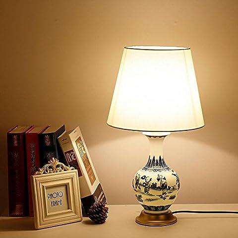 LLYY-Lampada da tavolo in ceramica stile europeo