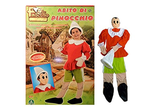 Costume carnevale pinocchio taglia 3° anni +4
