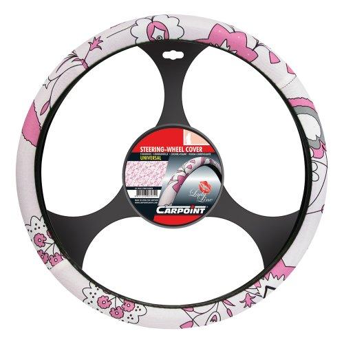 CARPOINT 2510021 Lenkradhülle 'Pink Flower'