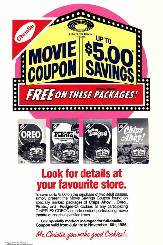 cineplex-odeon-nabisco-coupon-savings-poster-11-x-17-inches-28cm-x-44cm-1988-style-b