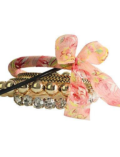 Dell'involucro del braccialetto - Feste / Quotidiano / Casual - di Cristallo / Acrilico , pink - Cristallo Perla Braccialetto Dell'involucro