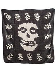 """Superfreak® Baumwolltuch """"Misfits""""°Tuch°Schal°100x100 cm°100% Baumwolle, Farbe: schwarz/weiß"""