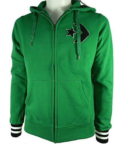 CONVERSE 4IU344A felpa jacket maglia uomo cappuccio verde (eur S)