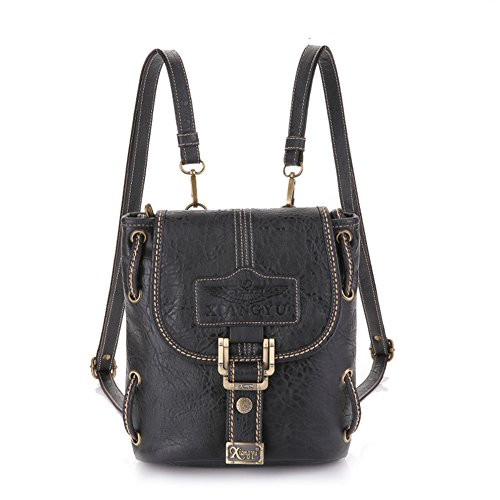 Lycailcy LYC-Lycailcy-A01-1-2, Borsa a tracolla donna nero Black(7.7 * 4.1 * 9 inches) taglia unica Black(7.7 * 4.1 * 9 inches)