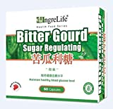 Ingrelife Bittergourd Sugar Regulating (60 Vegetarian Capsules 300mg) Made in Singapore GMP 苦瓜利糖胶囊 (素食可用 植物胶囊 60粒 300毫克) 新加坡制造 8888642160168 (1)