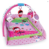 Just4baby Large 110 x 110cm Light & Musical 4 in 1 Baby Activity Toy Play Mat Playmat Gym Pink Girl