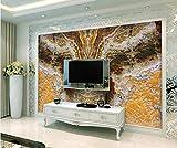 Carta da parati soggiorno camera da letto murale Parete di pietra del fondo modellata marmo splendido europeo-Modello di marmo_400 * 280