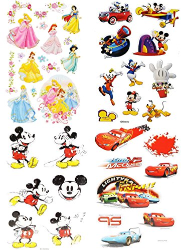 Unbekannt 1 Set Sticker / Aufkleber - für Jungen - für Textilien Stoff Metall - sehr fest - Disney Cars Mickey Mouse - Papier z.B. für Stickeralbum (Scrapbook-papier Cars Disney)